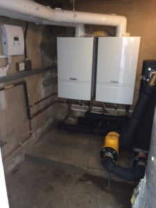 Two new light commercial Vaillant 656 boilers installed